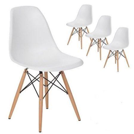 Jedálenská stolička Milano modern - čierna - 4ks