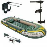 Seahawk 4 set, Intex + Lodné elektromotory Intex +Držiak pre motor Intex