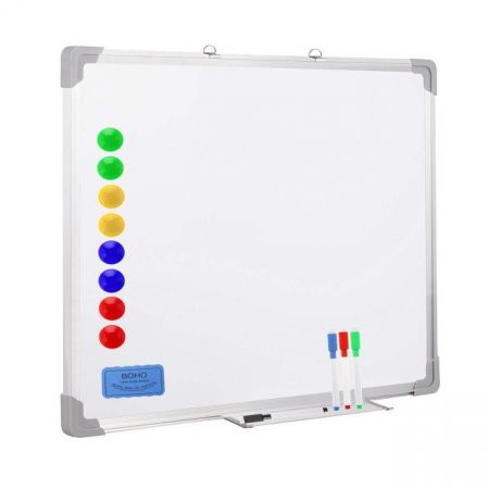 Bílá magnetická tabule se suchým mazáním 60 x 45 cm Springos